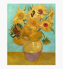 Vase with Twelve Sunflowers by Vincent Van Gogh 1889  Photographic Print