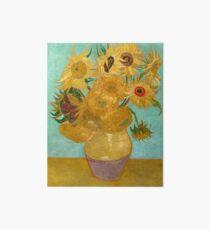 Vase with Twelve Sunflowers by Vincent Van Gogh 1889  Art Board