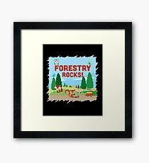 Forestry Rocks! Critters Edition Framed Print