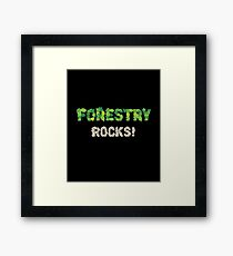 Forestry Rocks! Wildlife Conservation Framed Print