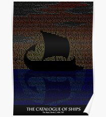 The Iliad - Catalogue of Ships Typography Poster
