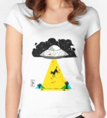 Primary Dogs XI: Obduction Women's Fitted Scoop T-Shirt
