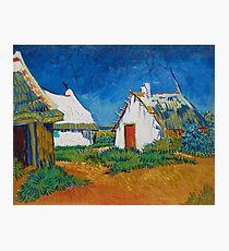 Vincent Van Gogh - Three white cottages in Saintes-Maries Photographic Print