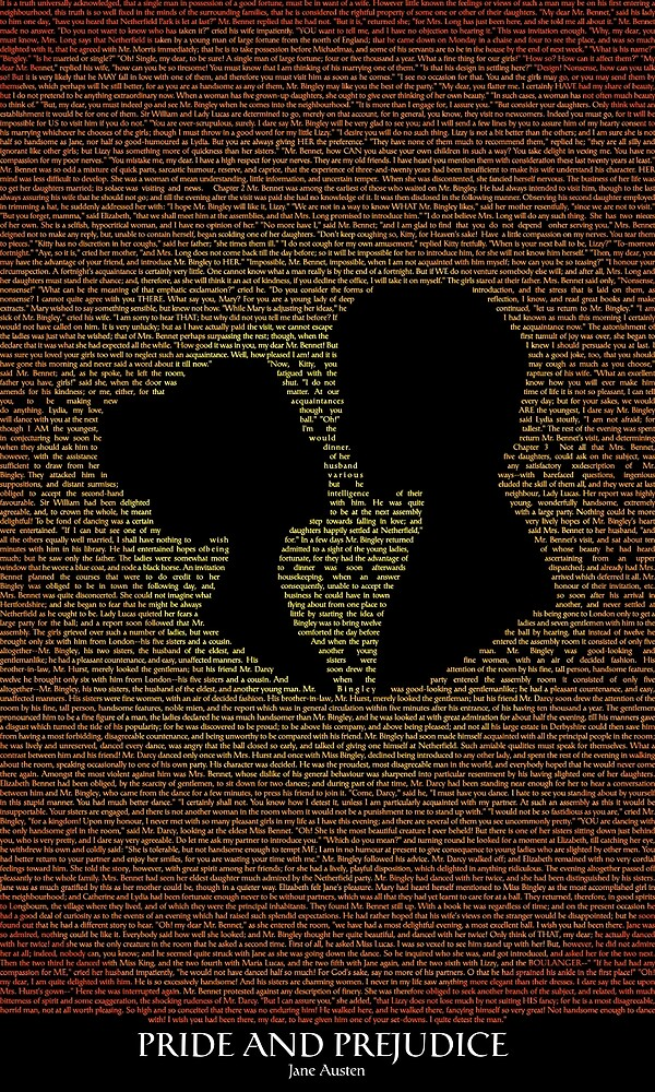 Pride and Prejudice Typography by dagaz