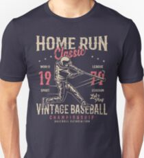 Baseball Home Run Retro Vintage T-Shirt
