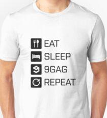 Eat Sleep 9gag Repeat T-Shirt