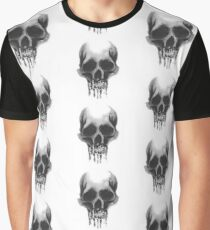 Watercolour Skull Graphic T-Shirt