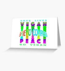 VEGAN PEACE. Greeting Card