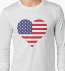 American Flag Heart  by Scarebaby T-Shirt