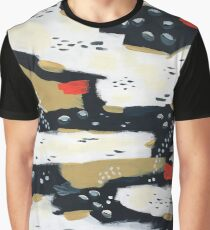 Spotted Abstract - Camel Graphic T-Shirt