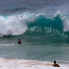 Surfers on Sandy Beach by WeeZie