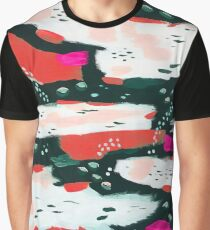 Spotted Abstract - Hot Pink-Red Graphic T-Shirt