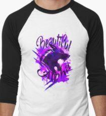 Beautiful Alpha Wolf Purple Baseball ¾ Sleeve T-Shirt