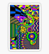 Art Deco Colorful Abstract Art Sticker