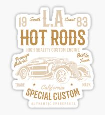 Los Angeles Hot Rod Car Retro Vintage Sticker