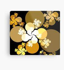 Gold Brown Spheres Metal Print