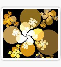 Gold Brown Spheres Sticker