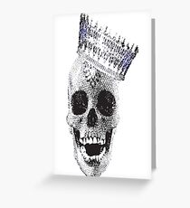 Skull and Crown Greeting Card