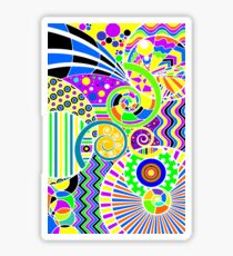 Colorful Art Deco Abstract Art Sticker