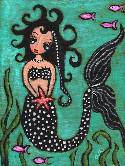 Mermaid Sister With Silver Accents by tracykemp