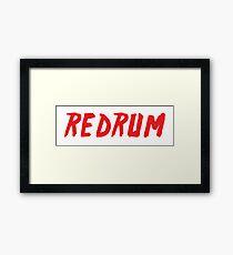 REDRUM (murder) Framed Print