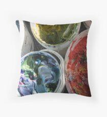 Pots of Paint Throw Pillow