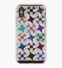 Churn Dash und Falling Stars Quilt iPhone-Hülle & Cover