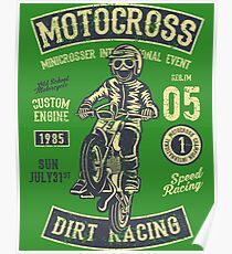 Motocross Retro Vintage Poster