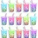 boba tea pattern by WeepyKing
