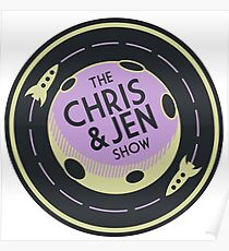 The Chris and Jen Show Logo Poster