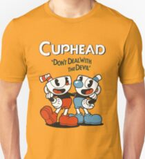 """Cuphead® - """"Don't Deal with the Devil"""" T-Shirt & Memorabilia T-Shirt"""