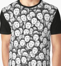 Kim Jong-un stickerbombing Graphic T-Shirt