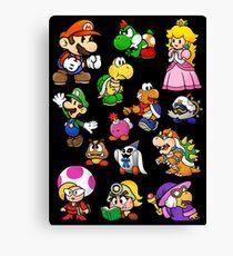 Paper Mario Collection Canvas Print