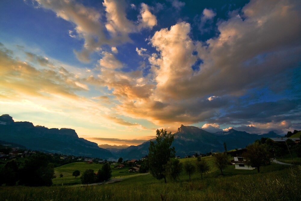 When Clouds And Mountains Meet by Sylvain Girard