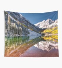 Maroon Bells by Lena Owens/OLena Art photography Wall Tapestry