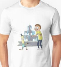 Mr Poopy Butthole Praposal - Rick and Morty - Sticker T-Shirt