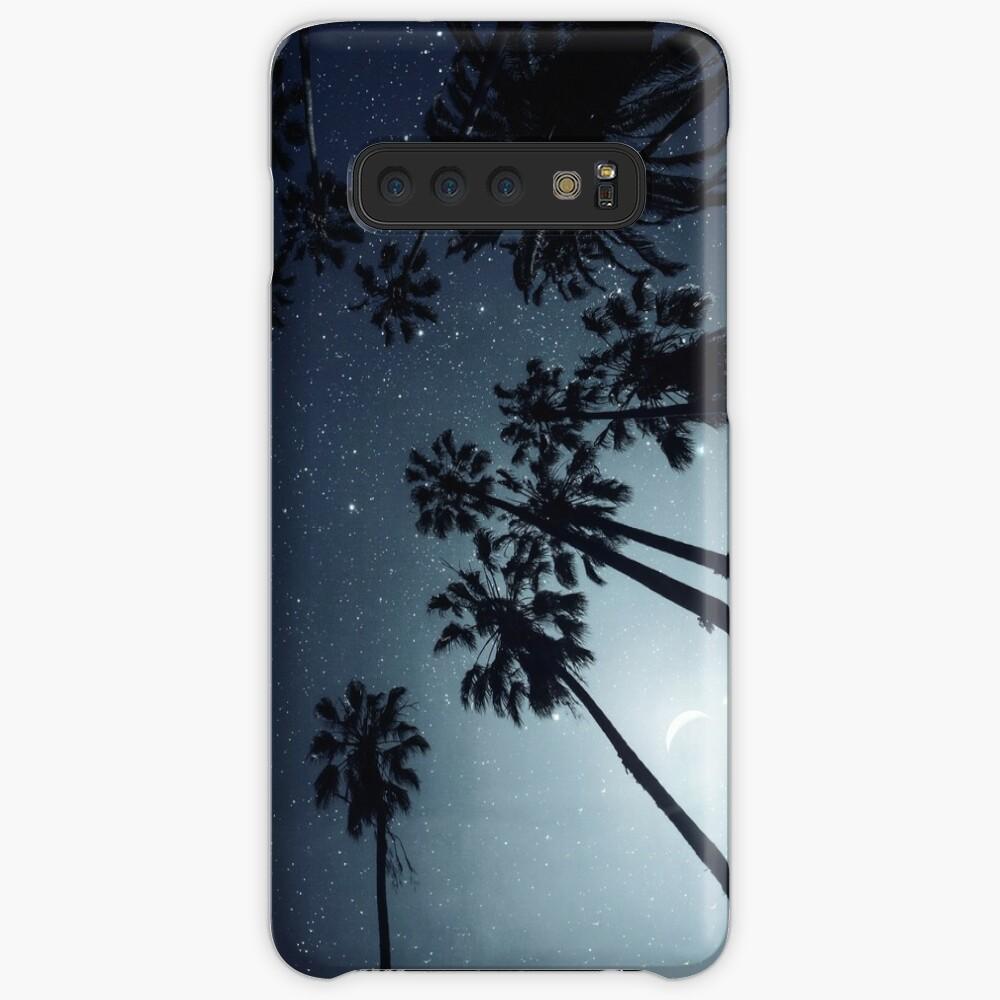 Palm Trees, Night Sky, Stars, Moon Case & Skin for Samsung Galaxy