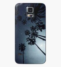 Palmen, Nachthimmel, Sterne, Mond Hülle & Klebefolie für Samsung Galaxy