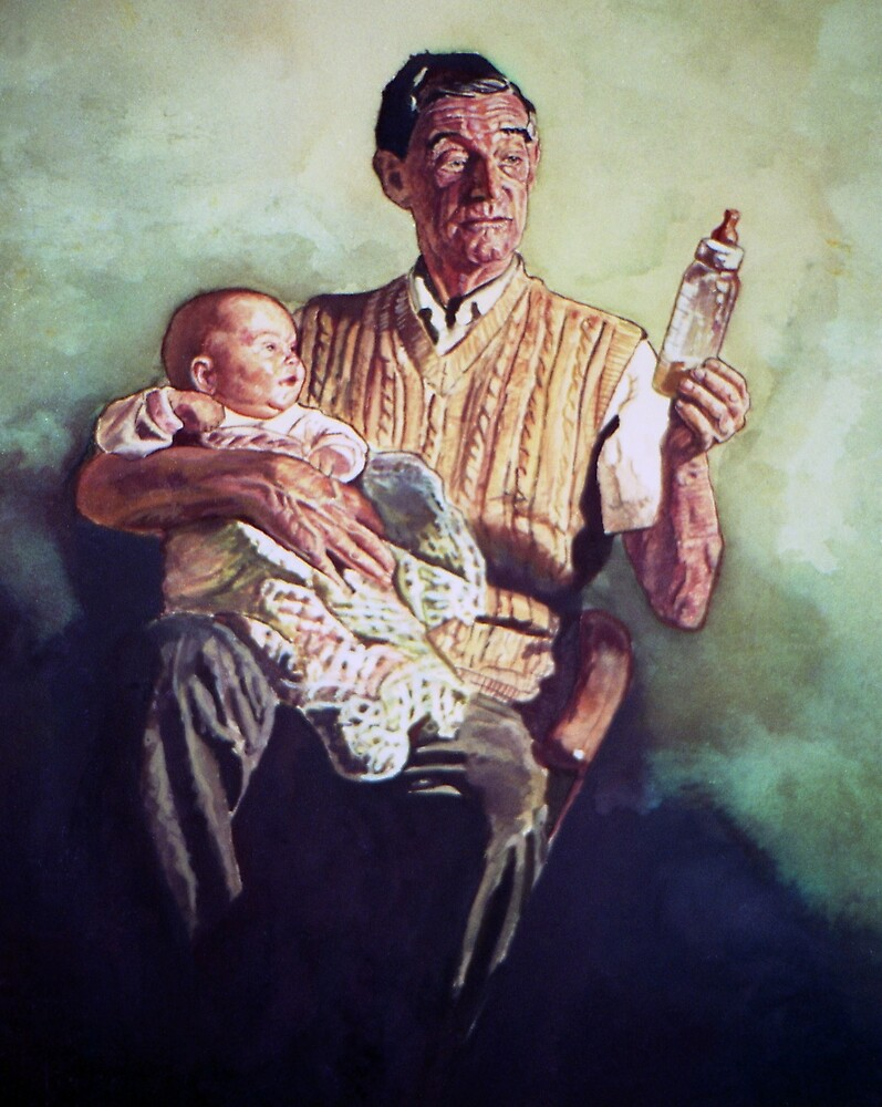 Babysitting by Michael Haslam
