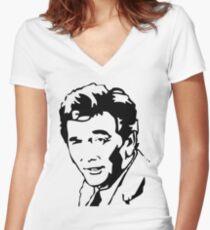 Peter Falk Columbo Women's Fitted V-Neck T-Shirt