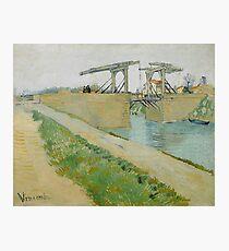 The Langlois Bridge, 1888 by Vincent Van Gogh  Photographic Print