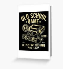 Old School Video Game Retro Vintage Greeting Card
