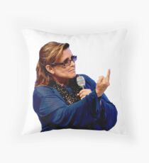 Carrie Fisher Throw Pillow