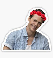 bill skarsgard w/flower crown Sticker