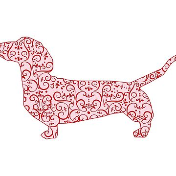 Dachshund Christmas Ribbons by tiffanyo