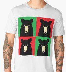 BLACK BEAR ON RED & GREEN Men's Premium T-Shirt