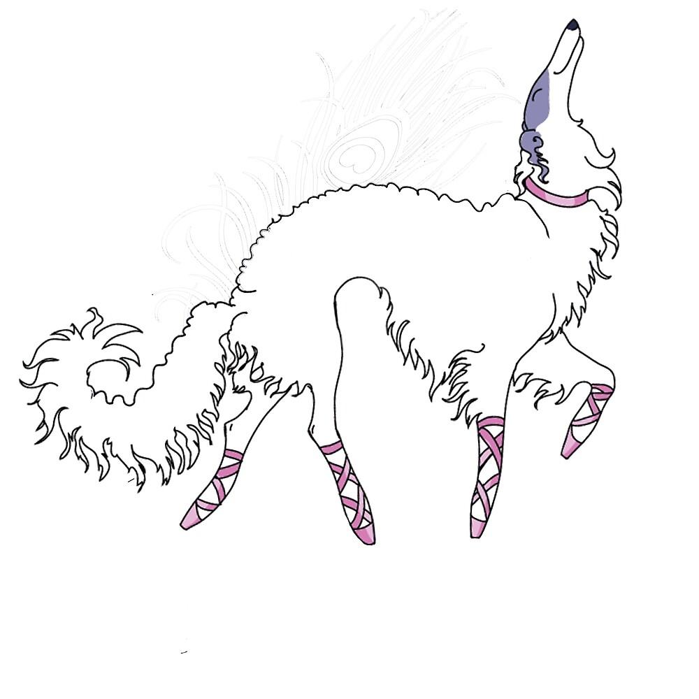 Ballet Borzoi  by Happy Dog Swag