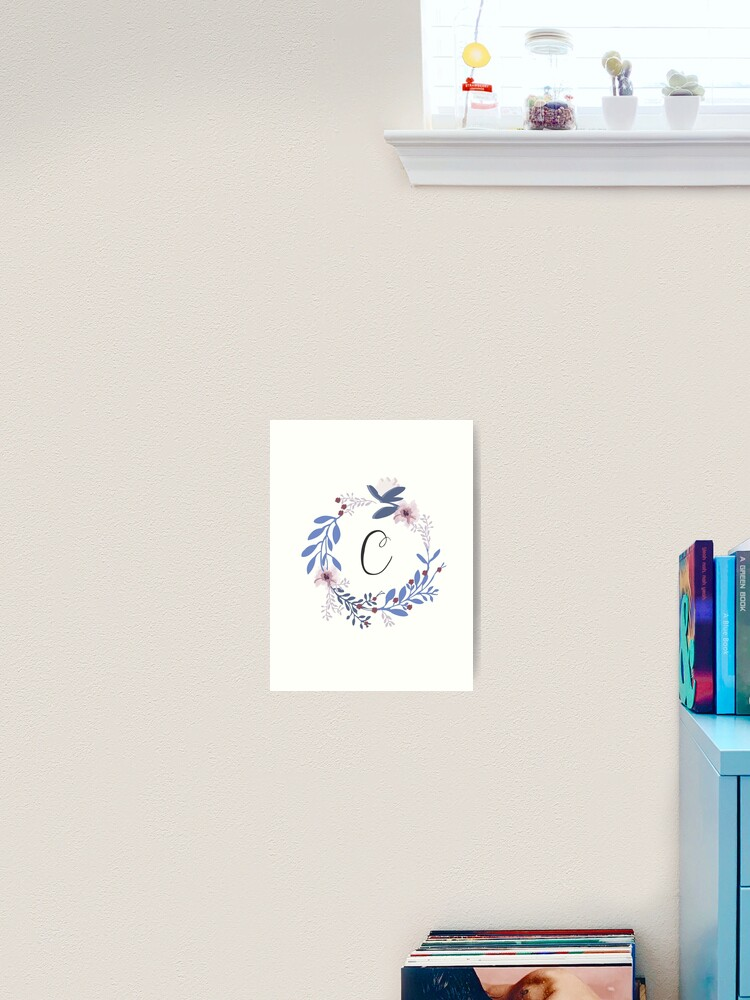 Fleurs Et La Lettre C Impression Artistique