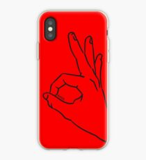A-Ok Handsign MAGA Patriot for Trump Black - Online Store iPhone Case