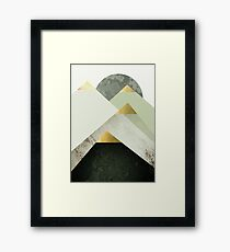 Golden Mountain Peaks Framed Print